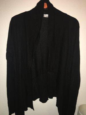 Hallhuber Cardigan aus Kaschmir und Seide in schwarz