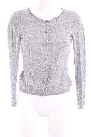 Hallhuber Cardigan grigio chiaro puntinato stile casual