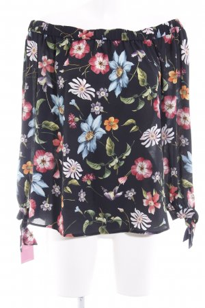 Hallhuber Carmen-Bluse florales Muster Casual-Look