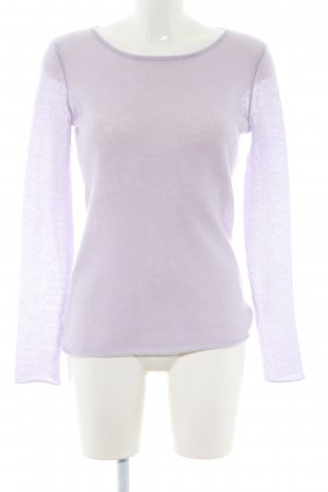 Hallhuber Cashmerepullover lila Casual-Look
