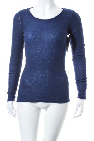 Hallhuber Cashmerepullover dunkelblau minimalistischer Stil