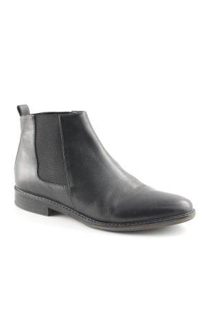 Hallhuber Chelsea Boot noir style décontracté