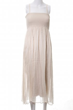 Hallhuber Chiffon Dress natural white elegant