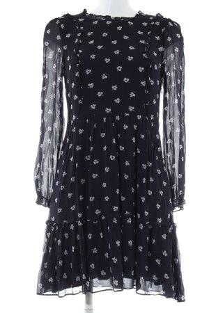 Hallhuber Chiffon jurk zwart bloemenprint elegant
