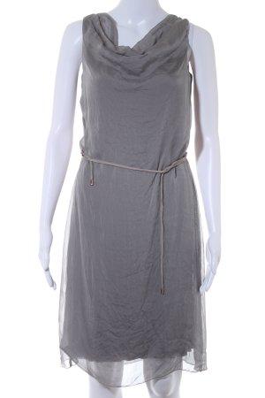 Hallhuber Vestido de chifón gris claro elegante