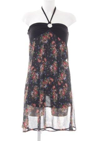 Hallhuber Chiffonkleid schwarz Blumenmuster klassischer Stil