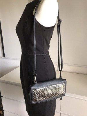 Hallhuber Clutch Handtasche schwarz mit Nieten