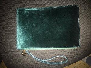 Hallhuber Borsa clutch verde scuro-verde bosco