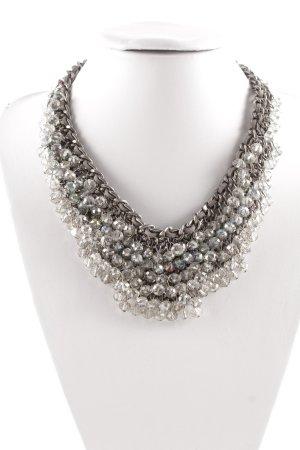 Hallhuber Collar estilo collier gris claro-color plata elegante