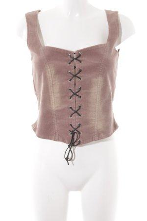 Hallhuber Haut type corsage vieux rose-mauve style campagnard