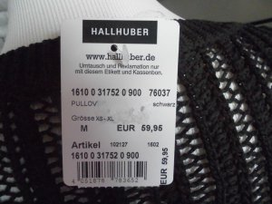 Hallhuber Pullover all'uncinetto nero