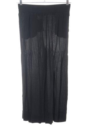 Hallhuber Pantalone culotte nero stile casual
