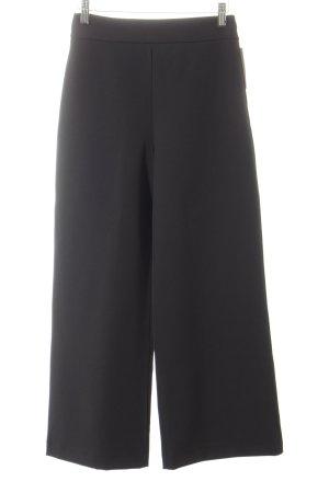 Hallhuber Pantalone culotte nero stile da moda di strada