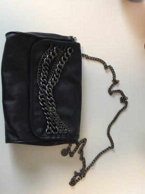 Hallhuber Damen Handtasche schwarz mit Ketten