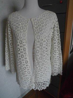 Hallhuber Damen Jacke mit Muster Gr. 38 NP 69,95 offwhite