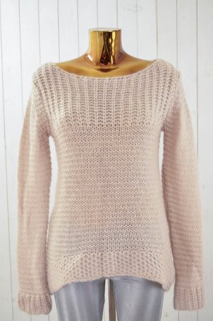 HALLHUBER Damen Pullover Strickpullover Grobstrick Beige U-Ausschnitt Gr.M