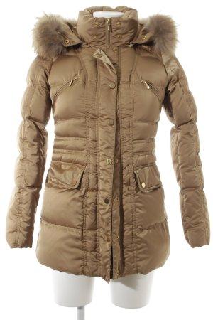 Hallhuber Manteau en duvet doré style simple