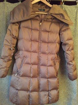 Hallhuber Abrigo de plumón marrón claro