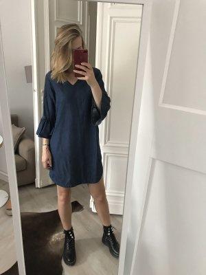 Hallhuber Vestido vaquero azul oscuro