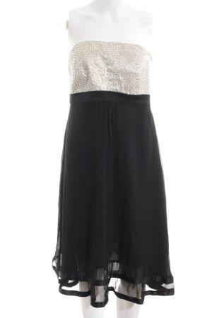 Hallhuber Donna Abendkleid schwarz-silberfarben Elegant