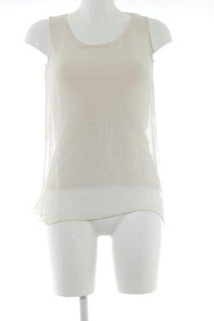 Hallhuber Donna ärmellose Bluse nude Lagen-Look