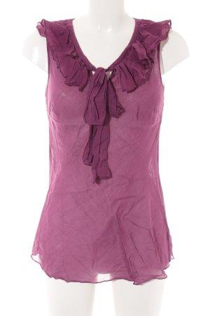 Hallhuber Donna ärmellose Bluse purpur Casual-Look