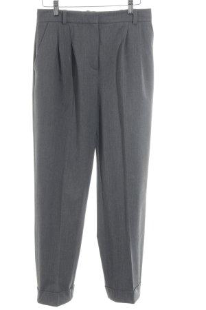Hallhuber Donna Pantalon de costume gris moucheté style d'affaires