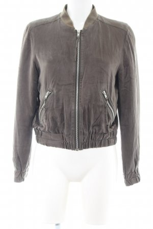 Hallhuber Donna Blouson hellgrau abstraktes Muster Casual-Look