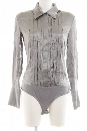 Hallhuber Donna Blusen-Body hellgrau-silberfarben Elegant