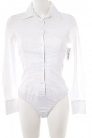 Hallhuber Donna Blusa tipo body blanco estilo «business»