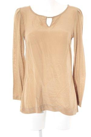 Hallhuber Donna Empiècement de blouses beige style décontracté