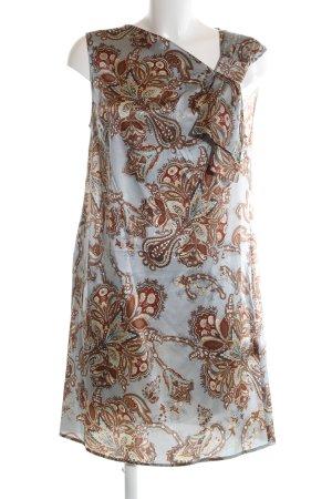 Hallhuber Donna Blusenkleid braun-hellgrau Blumenmuster klassischer Stil