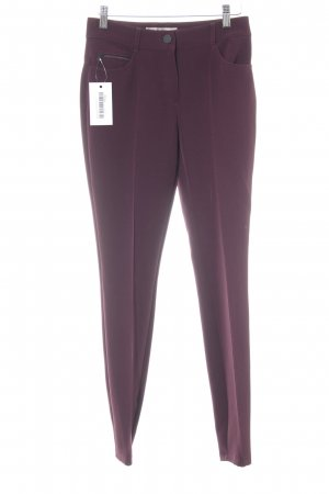 Hallhuber Donna Bundfaltenhose purpur Business-Look