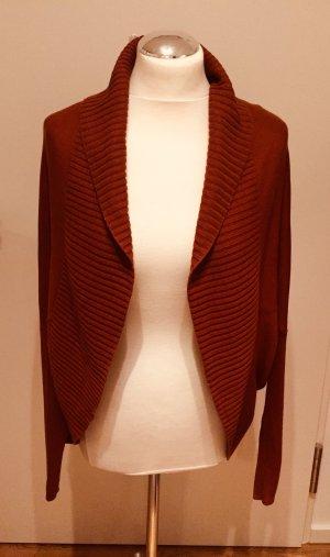 Hallhuber Donna Cardigan tricotés cognac-rouille