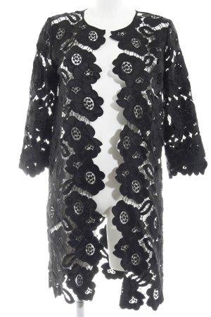 Hallhuber Donna Cardigan schwarz florales Muster Elegant