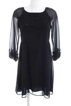 Hallhuber Donna Chiffon jurk zwart elegant