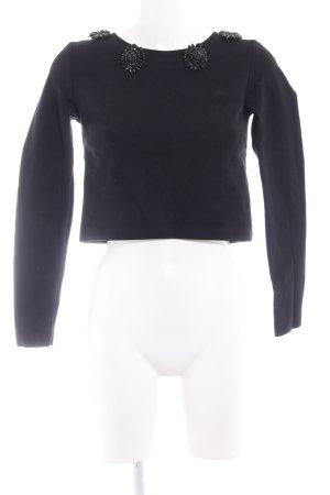 Hallhuber Donna Cropped Shirt schwarz Elegant