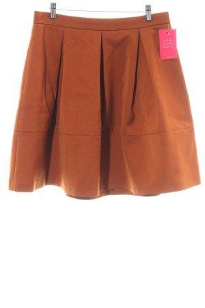Hallhuber Donna Plooirok donker oranje elegant