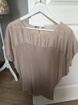 Hallhuber Donna - Feines Shirt mit Flügelärmelchen mit Seide
