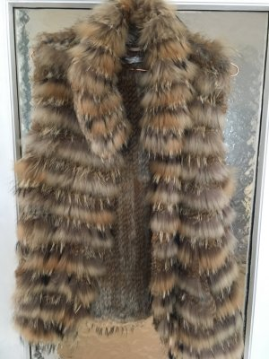 Hallhuber Donna Fur vest multicolored