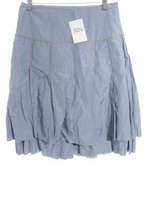 Hallhuber Donna Godet Skirt cornflower blue extravagant style