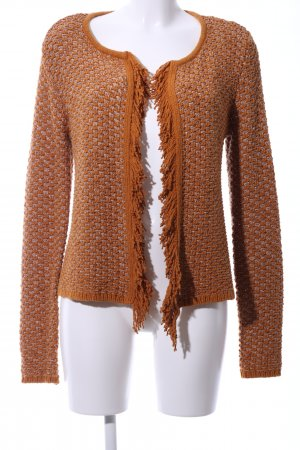 Hallhuber Donna Coarse Knitted Jacket brown-light grey casual look