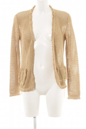 Hallhuber Donna Coarse Knitted Jacket sand brown-gold-colored casual look