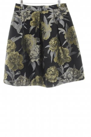 Hallhuber Donna High Waist Rock florales Muster Elegant