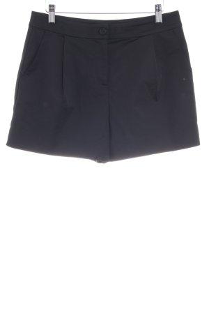 Hallhuber Donna Short taille haute noir-bleu foncé style décontracté