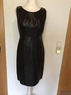 Hallhuber Donna Leather Dress black leather