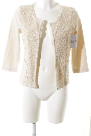 Hallhuber Donna Jersey Blazer cream abstract pattern elegant