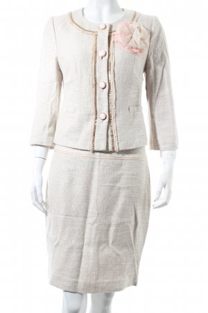 Hallhuber Donna Ladies' Suit oatmeal-pink elegant