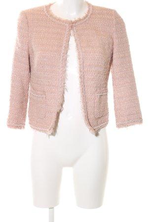 Hallhuber Donna Kurz-Blazer pink Allover-Druck Business-Look