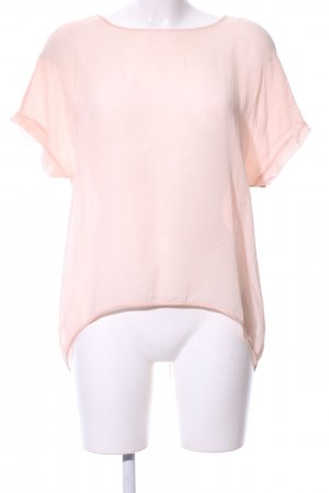 Hallhuber Donna Kurzarm-Bluse pink Casual-Look